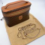 Celine Vintage Macadam Monogram Vanity Bag - 00801