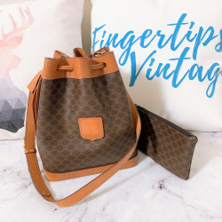 Celine Vintage Macadam Monogram Bucket Bag - 00812