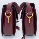 Celine Burgundy Carriage Shoulder Box Bag - 00865