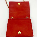 Chanel Vintage Flap Shoulder Bag in Red - 00369