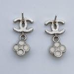 Chanel CC Flower Drop Earrings - 00478