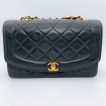 Chanel Lambskin Diana 25cm in Black - 00794