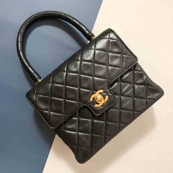 Chanel Vintage Lambskin Classic Flap Handle Bag - 00871