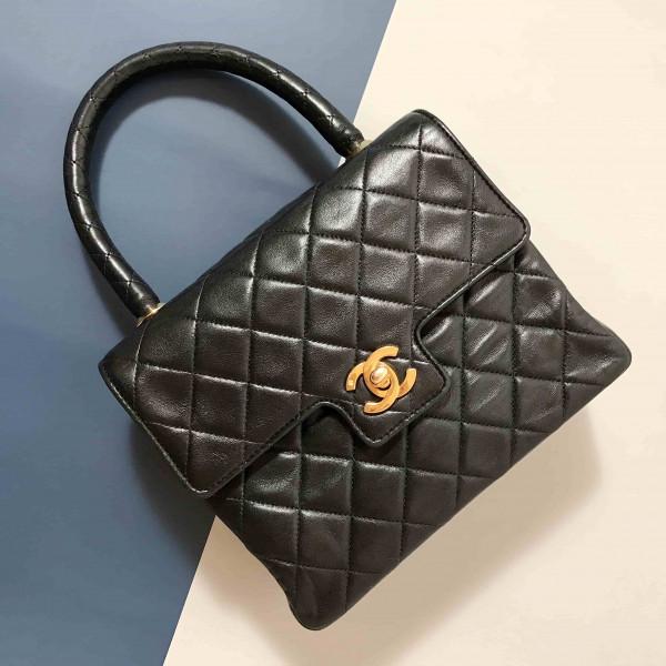 Chanel Vintage Lambskin Classic Flap Handle Bag - 00871