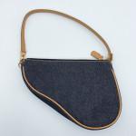 Christian Dior Vintage Denim Mini Saddle Bag - 00759
