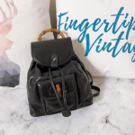 Gucci Vintage Bamboo Backpack S Size - 00803