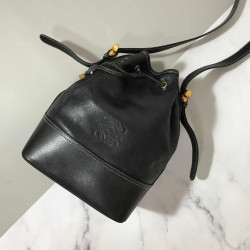 Loewe Vintage Black Bucket Bag - 00860