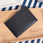 Prada Black Saffiano Leather Card Holder - 00329
