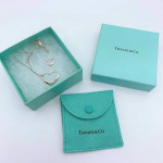 Tiffany & Co. Silver Double Open Heart Necklace - 00823